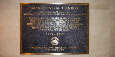NRHS Historic Railway Landmark Plaque