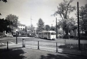 NRHS | Baltimore Transit | Towson, MD | PCC 7111 | Washington St | 1960 | Fiedling Lew Bowman