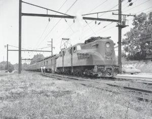 NRHS | Bowman Boy Scout Jamboree | PRR | Norristown, PA | GG1 4872 Haws Ave | neg 1587 | July 20, 1957