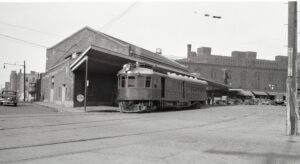 NRHS | Minneapolis Northfield and Southern |  Minneapolis, MN  | Car 38 7th St and 3rd Ave North 2 | July 1940