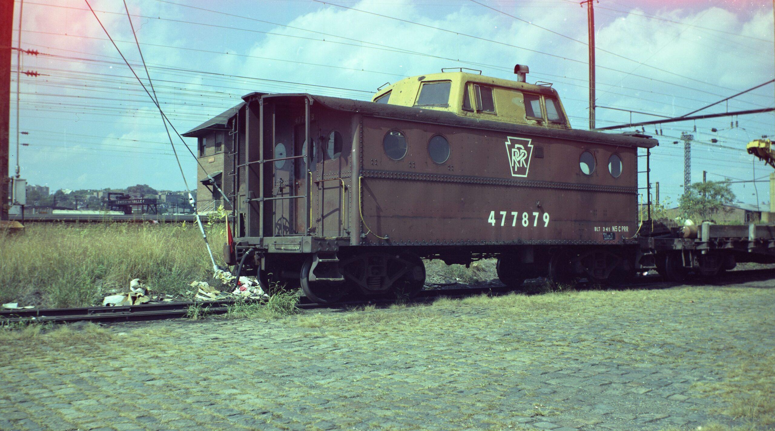 Pennsylvania Railroad | Newark, New Jersey | N-5C Class caboose 477879 | September 23, 1973