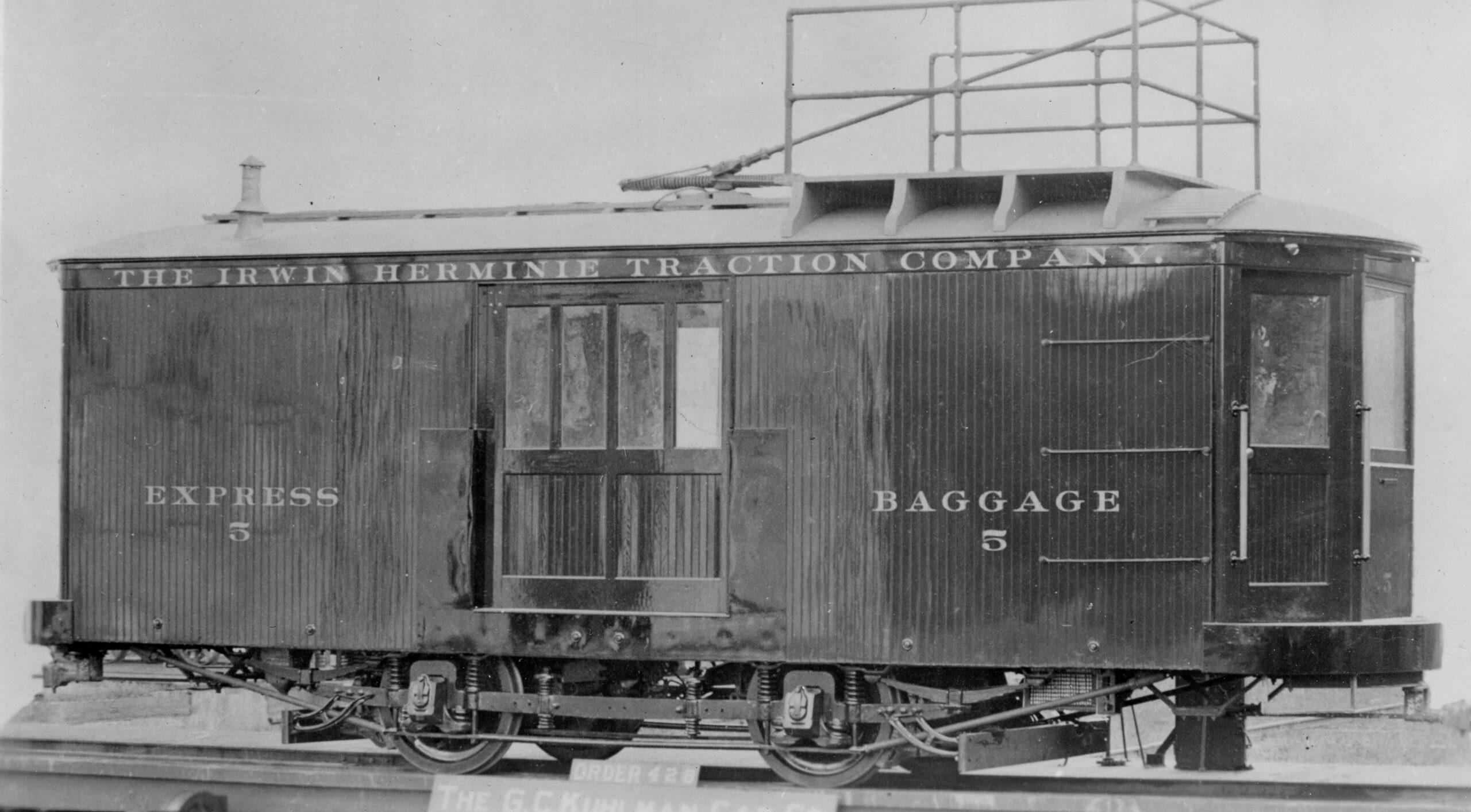 Irwin Hermine Traction Company   Cleveland Ohio   Express Freight Motor #5    1904   G C Kuhlman Company